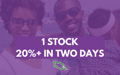 20%+ return in two days — How I picked this stock